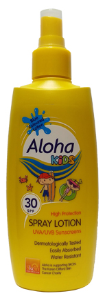 Aloha Kids Skin Spray Lotion